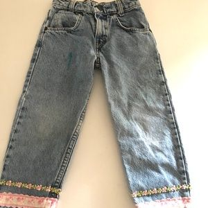 Vintage Girl's Levis Jeans 550 Relaxed Fit Light